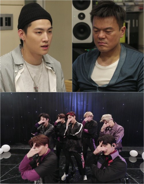 J Y  Park and GOT7's leader JB on 'Hyena On The Keyboard'