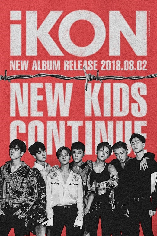 On July 23, YG Entertainment announced iKon\'s comeback with a poster, which reveals that iKon will release new mini-album \'NEW KIDS: CONTINUE\' on August 2.