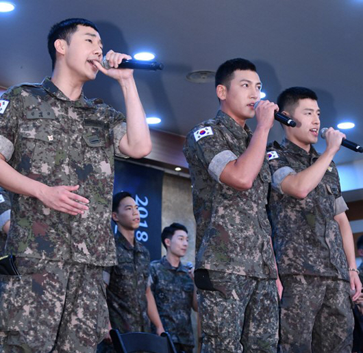 On August 14, actors Ji Chang Wook, Kang Ha Neul and INFINITE\\\'s Sunggyu participated in the press conference for new military musical \\\'Shinheung Military Academy\\\' (literal translation).