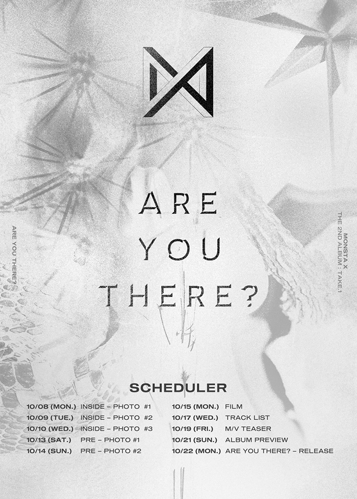Starship Entertainment announced that MONSTA X will be making a comeback for the first time in 7 months on October 22. The group\'s second full-length album is titled \'ARE YOU THERE?\'.
