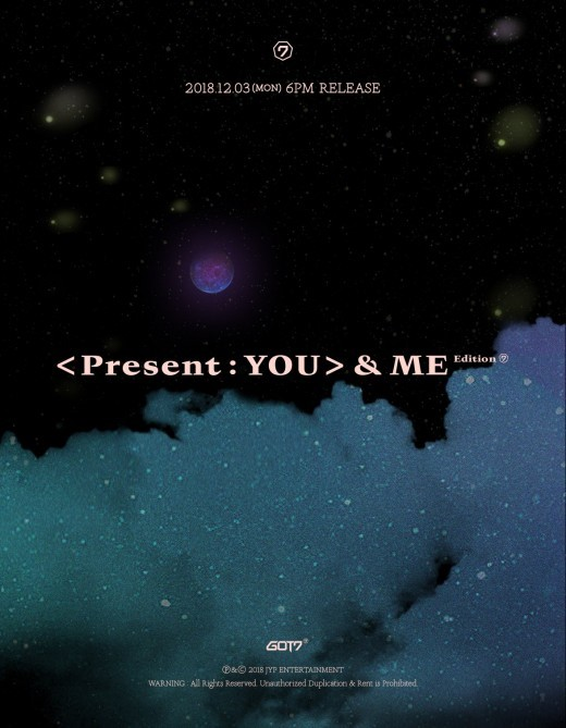 On December 3, GOT7 will release \'PRESENT: YOU & ME\', which is a repackage version of their 3rd full-length album.