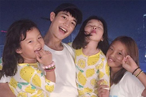 SHINee\'s Minho hangs out with Lee Dongguk\'s children from \'The Return of Superman\'!