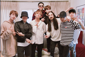 BTS & DJ Steve Aoki had a producer meeting together!