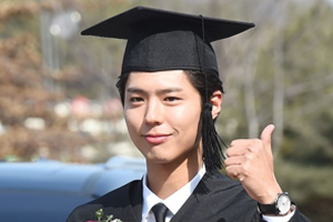 Park Bo Gum at graduation ceremony