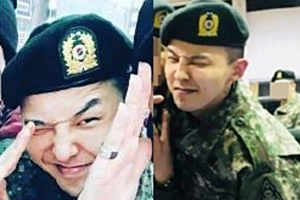 G-Dragon\'s photos from military training completion ceremony!