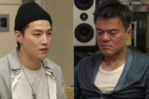 J.Y. Park and GOT7\'s leader JB on \'Hyena On The Keyboard\'