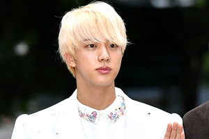 BTS\' Jin surprises everyone with his fashion on the way to \'Music Bank\'