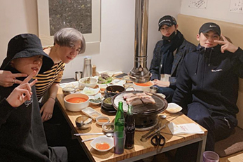 Jungkook, Cha Eun-woo, Mingyu, Yugyeom hang out together